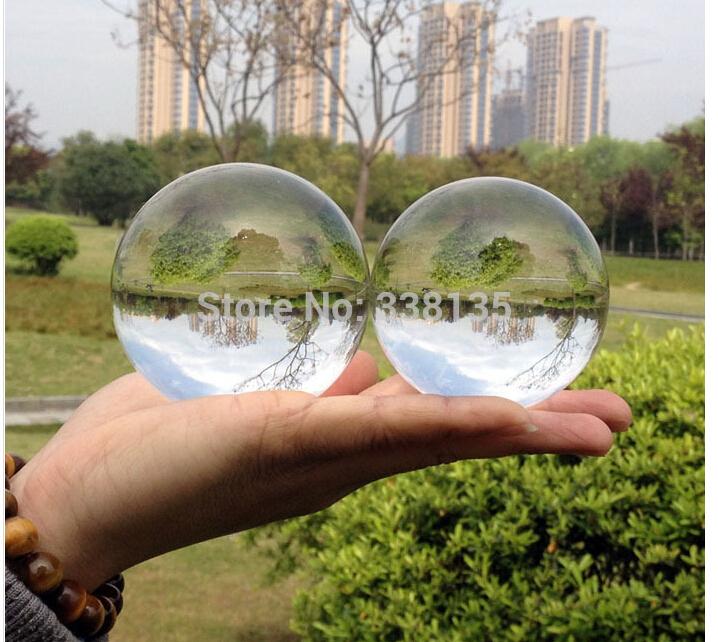 Transparent Huge 150mm Decorative Glass Crystal Balls For Home Decor