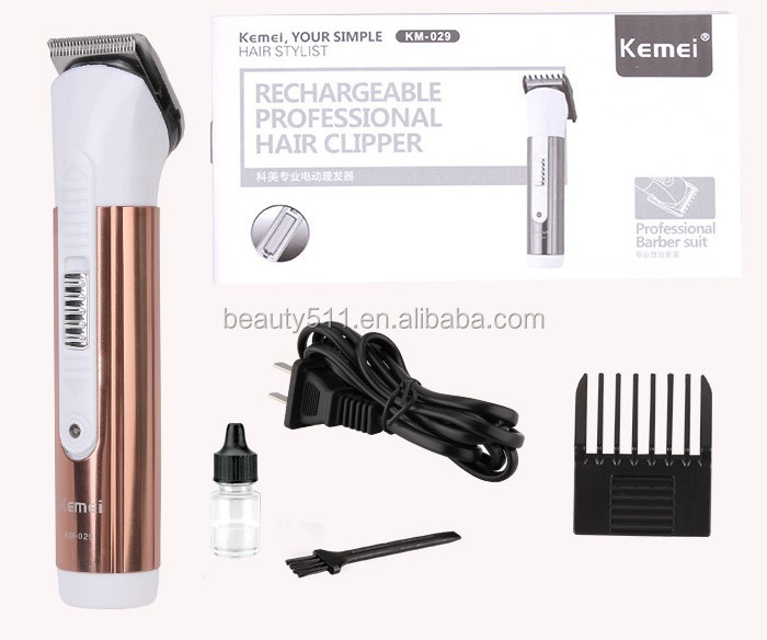Professional Household Rechargeable Electric hair clipper/cutter KM-029