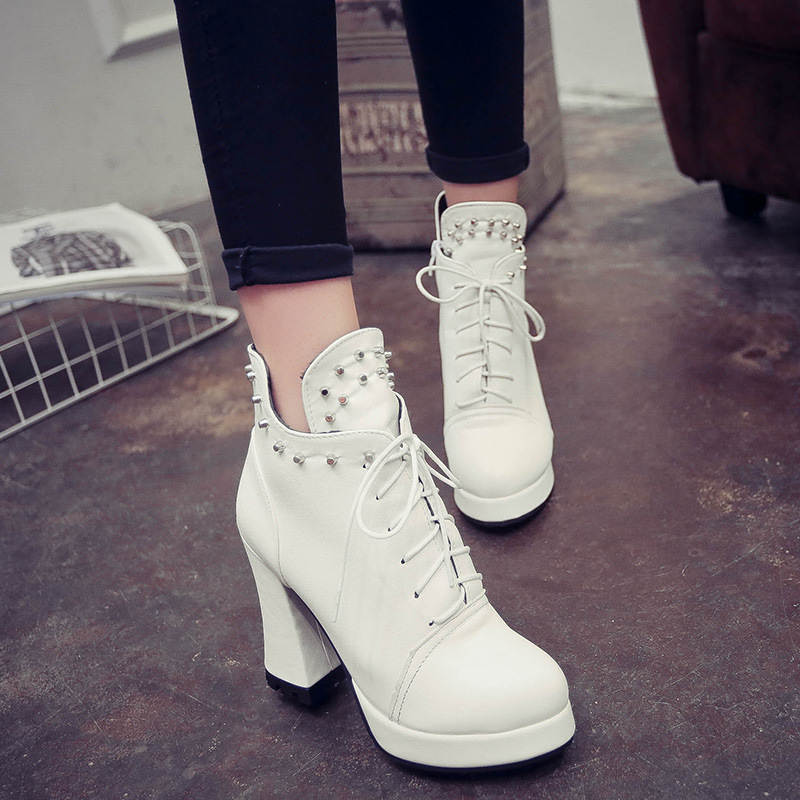 C72534A New Design Women Leather Boots Pretty Woman Boots