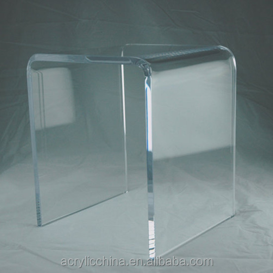 Home furniture clear acrylic shower bench