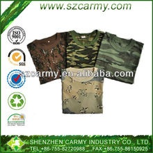 Military Camouflage 100% cotton short sleeve Round Neck T-shirt