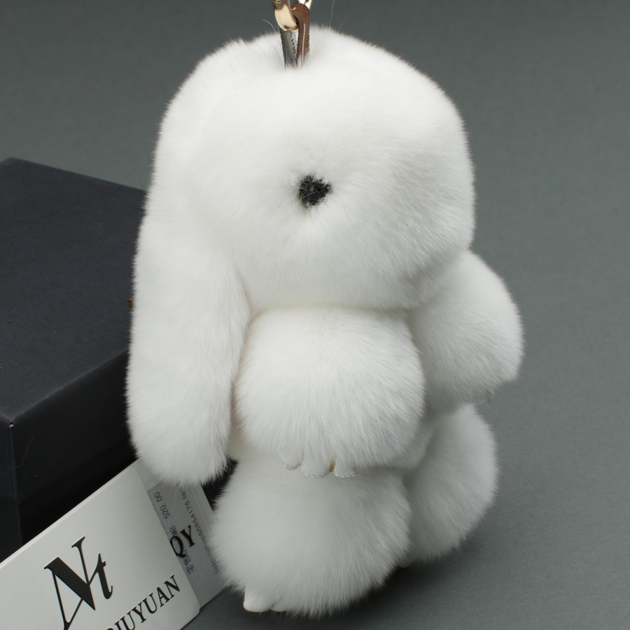 Fur handicrafts real fur dead rabbit key chain/bag charm/bag accessories