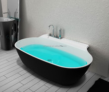 New design european style free standing solid surface stone resin bathroom bathtub