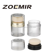 Empty loose powder puff containers