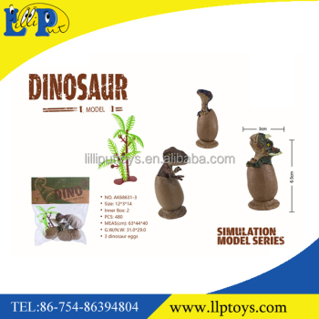 Funny dinosaur egg toy with tree