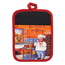 Chef pattern Decorative Pot Holder Silicone printing Pot Holders Heat Resistant Kitchen Table Mat Dinner Mat