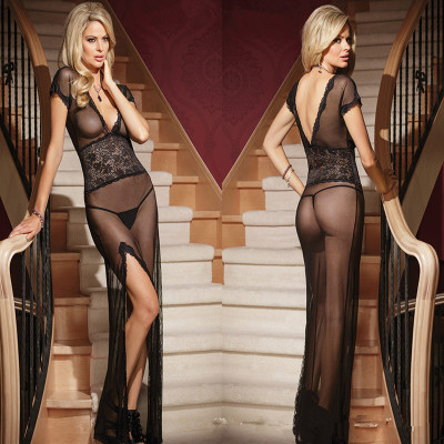 plus size see-through mesh <strong>sexy</strong> women's <strong>sexy</strong> dress suit
