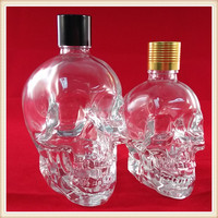 30ml e liquid skull clear glass crystal perfume bottle with dropper