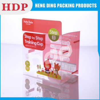 custom printed logo clear pvc packaging box
