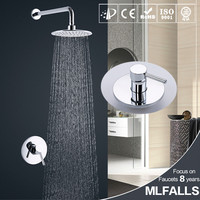 Concealed Shower Set.Concealed Shower Faucets.8 inch Ultra-Thin rainfall circular shower head,Bath tap mixer