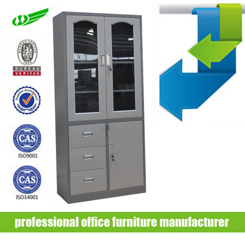 Metal 3 draws file cabinet second hand steel office furniture