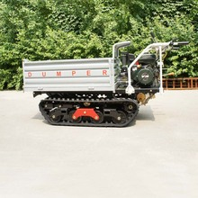 mini pedrail gas engine orchard truck dumper mini crawler type truck tractor