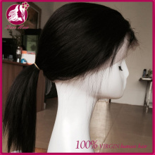 New fashion aliexress design sew virgin malaysian straight hair full alce silk top wig glueless cosplay lace front wig