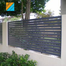 aluminum garden fence slats louvered fence