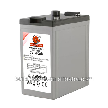 industrial Deep cycel solar gel 2v 600ah battery for solar system 5KW