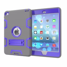 Best Selling Perfect Fit Silicone+PC Case For iPad Mini 4 Cover
