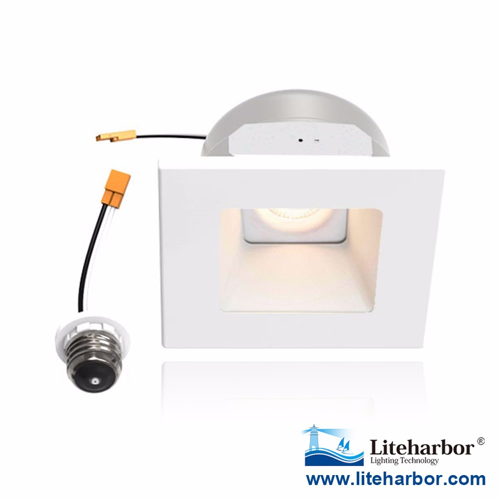 "Super September Purchasing UL ETL Listed 10 Watts 4 Inch 4"" White Ceiling Recessed Square Pot Light LED Retrofit Kit"