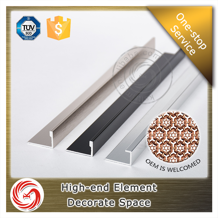 Adaptability aluminum L shaped tile trim for marble edge