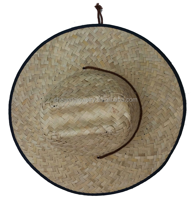 Men bamboo Wide Brim Hat