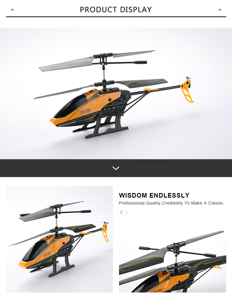 YD-218 new arrival 3CH mini rc helicopter toy Infrared remote control