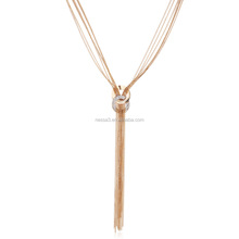 Fashion Gold Long Chain Necklace Designs Wholesale HZS-0106