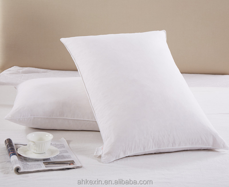 Wholesale home textile white plain duck feather pillow
