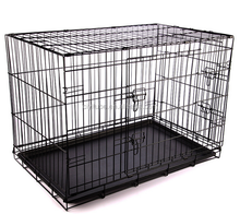Metal Wire Pet Cage Dog Cage with Plastic Tray