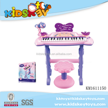 Beauty 37 keys electronic piano keyboard with microphone chair
