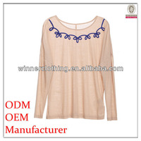 Ladies fashion smart scoopp neckline knitted garments buying houses