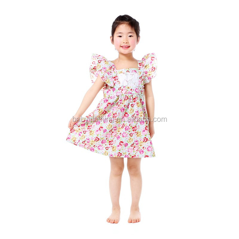 wholesale toddler girls boutique dress floral long sleeve dress sweet girl clothing