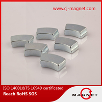 N45 TS16949 segment neodymium magnet for generator with ISO14001 in china