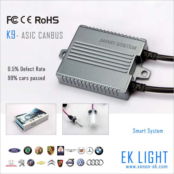 EK 9-32v 55w super slim digital canbus hid xenon kit, canbus led light 21w