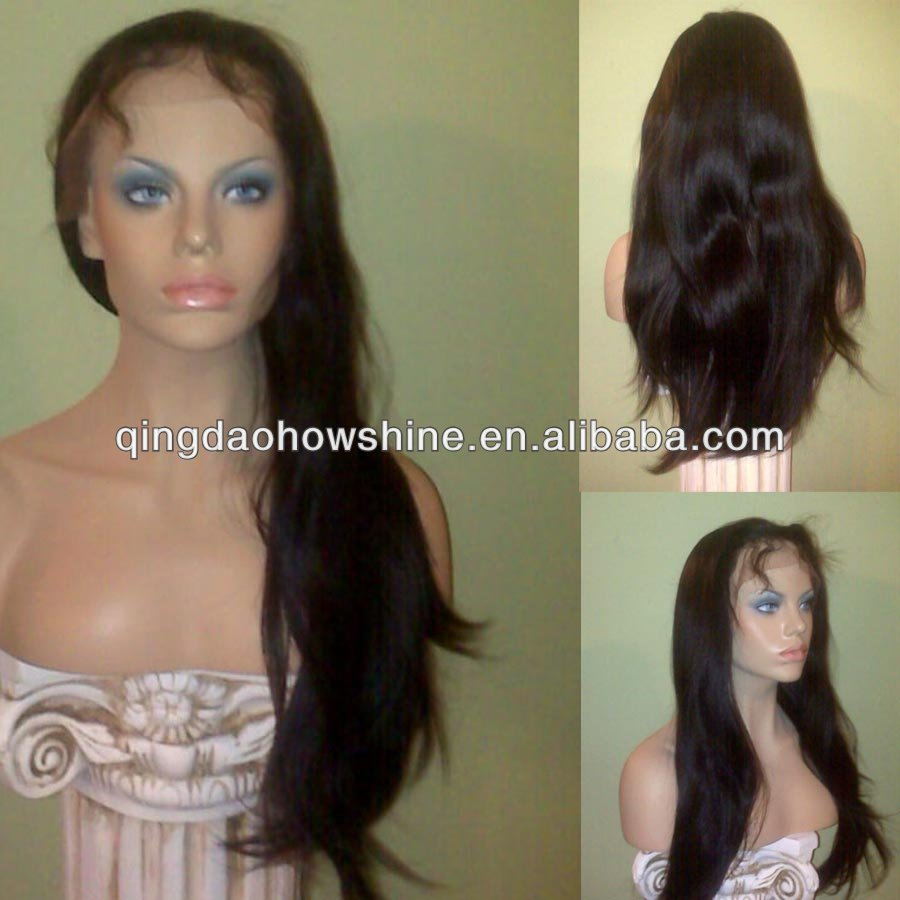 top fashion stock brazilian hair freestyle full lace remy hair wigs