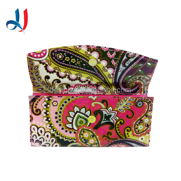 2016 New Women Product Customized Flower Printing PVC Hand Wallets Coin Collection Bag for Ladies