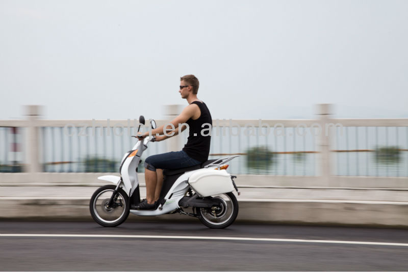 motor scooter trailers CE/EEC high speed long range two wheel hub motor electric scooter with pedals for sale
