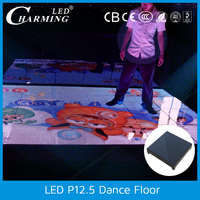 Led video floor dance floor led display for car exhibition and show