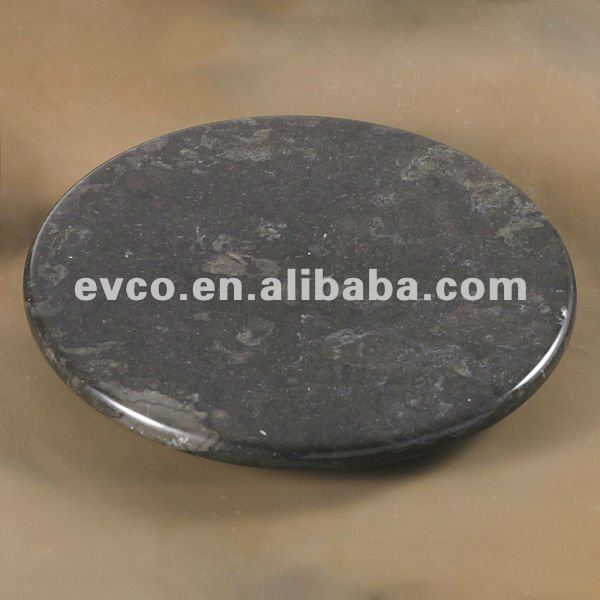 Genuine Charcoal Marble Lazy Susan