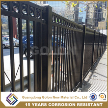 Garden AkzoNobel Powder coating steel iron garden artificial fence design, horizontal aluminum fence, perforated metal fence