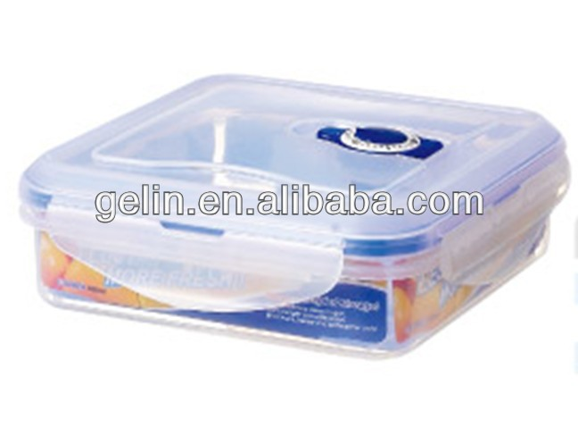 500ml square locking food container with date dial