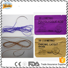 Disposable Nylon/PGA/Chromic Catgut Surgical Suture with FDA certificate