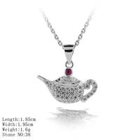 PZA2-173 Unique Designs Teapot Pendant Children Jewelry