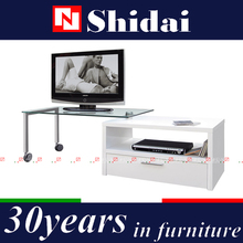 lcd plasma tv stand with wheels, moving tv stand, movable lcd tv stand E-122
