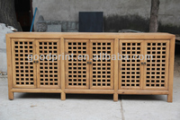 Chinese Antique recycle Six Door Ratten Cabinet