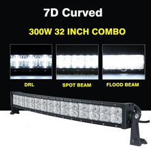 2017 newest CK-BC23003C 7D curved 4x4 12v 300w led light bar