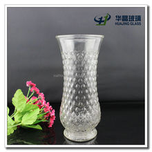 Clear decorative long stem glass vase for flower arrangment