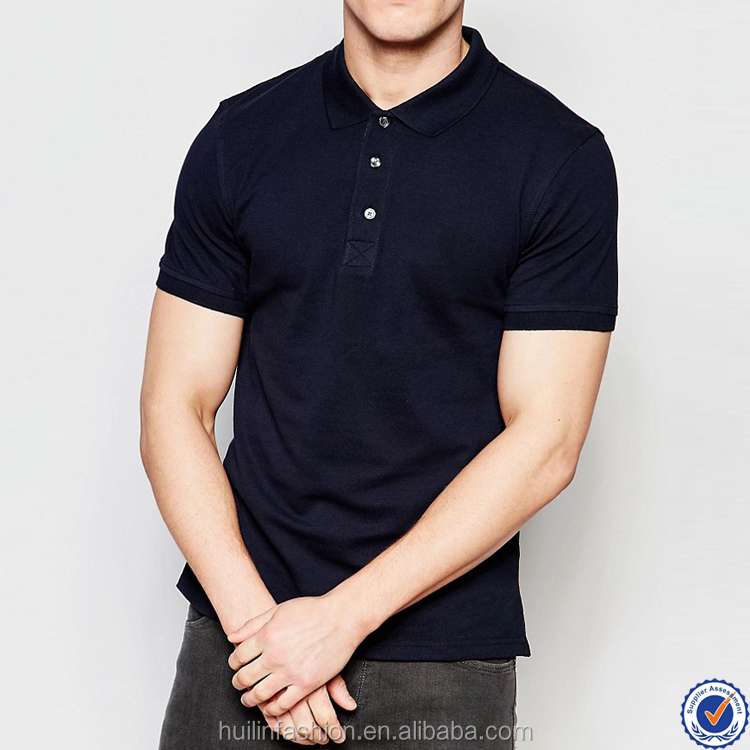 clothing manufacturer wholesale cheap 100% cotton black mens polo t shirt