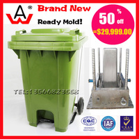 120L plastic dustbin used mold for sale
