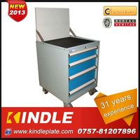 Kindle 31 years experience roller Customized tattoo tool box with drawers