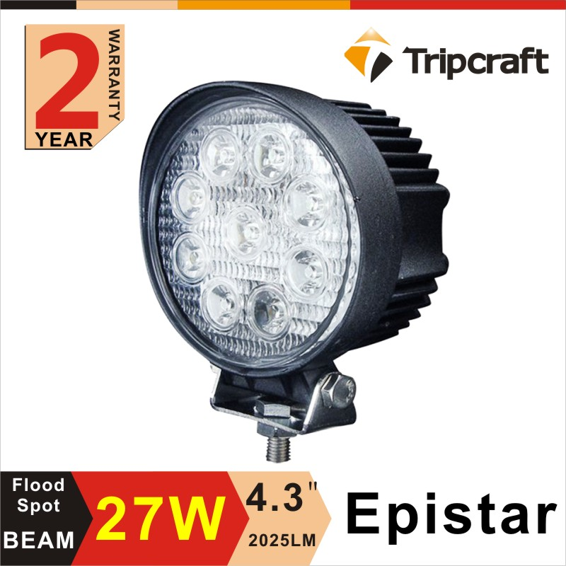 12V/24V DC 27w spot/flood LED working light for heavy duty off road truck