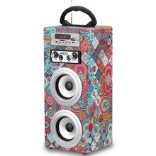 Portable speaker with fm radio usb sd card reader speaker component